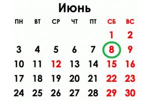 ВНИМАНИЕ! 08.06.2019 - нерабочий день!