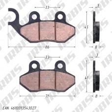Колодки тормозные дисковые CG125, MINSK ТИП2