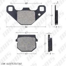 Колодки тормозные дисковые AD50 (HF130)