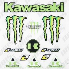 "Наклеек набор ""Kawasaki"" светоотражающий"