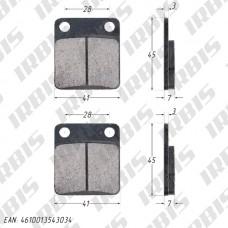 Колодки тормозные дисковые CG125, MINSK ТИП3