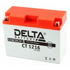 Аккумуляторная батарея 12V16Ah (207x72x164) (залитая, необслуж.) DELTA