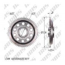 Шестерня муфты обгонной 170MM (жид. охл.) DOHC (CBB250) 60Т