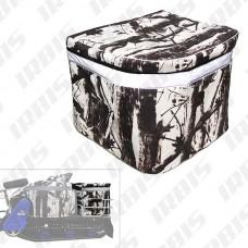 Кофр для мотобуксировщика Мухтар 15 (текстиль), (цв. зимний лес)